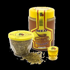 Med, cvjetni prah, propolis